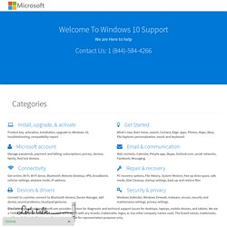 Windows 10 Support - Microsoft Support Call 1 (844)-584-4266