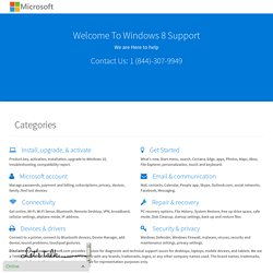 Windows 8 - Support Microsoft Support Call 1 (844)-307-9949