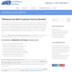 windows live tech Support phone number 1-(877)-424-6647