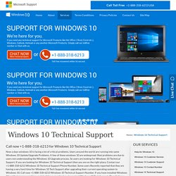 Windows 10 Tech Support Phone Number, Windows 10 technical support.