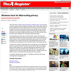 Windows hack for Web-surfing privacy