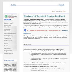 Windows 10 Technical Preview Dual boot