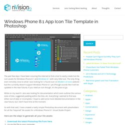 Windows Phone 8.1 App Icon Tile Template in Photoshop