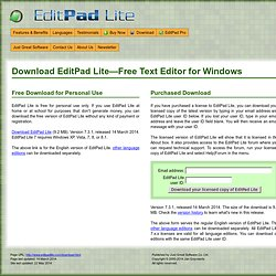 Windows Text Editor Free Download