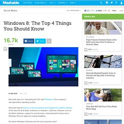 Windows 8: The Top 4 Things You Should Know