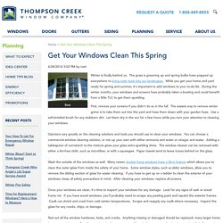 Get Your Windows Clean This Spring