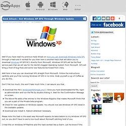 Hack Attack : Get Windows XP SP3 Through Windows Update « DailyApps