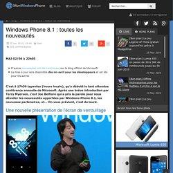 Windows Phone 8.1 : toutes les nouveautés