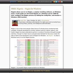 Nagios for Windows - Nagwin tutorial