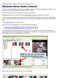 Windows Movie Maker Tutorial (WMM) - Journalists Toolkit