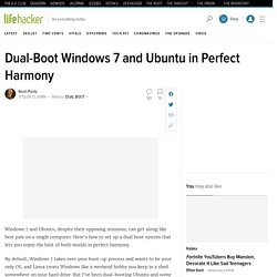 Dual-Boot Windows 7 and Ubuntu in Perfect Harmony