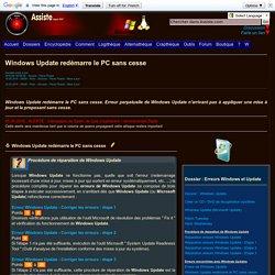 Windows Update redémarre le PC sans cesse