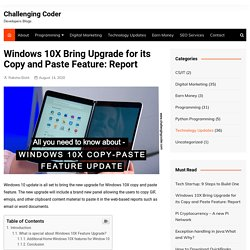 Windows 10X Bring Upgrade for its Copy and Paste Feature: Report -