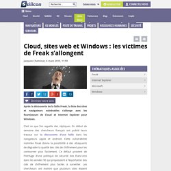Cloud, sites web et Windows : les victimes de Freak s'allongent