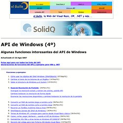 API de Windows para Visual Basic -Cuarta