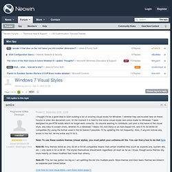Windows 7 Visual Styles - Neowin Forums