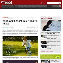 Windows 8: What You Need to Know