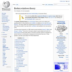 Broken windows theory