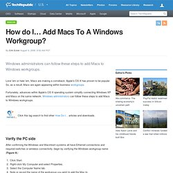 How do I… Add Macs To A Windows Workgroup?