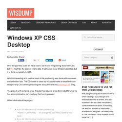 Windows XP CSS Desktop | Wisdump