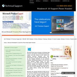 Windows® 10 Support Phone Number - 800-961-1963