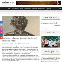 Windradyne: Indigenous Australian Warrior and Resistance Leader