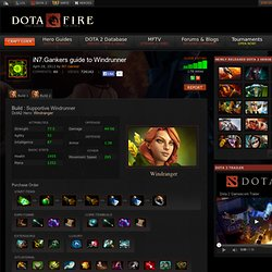 Windrunner Build Guide DOTA 2: iN7.Gankers guide to Windrunner