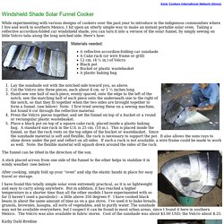 Windshield Shade Solar Funnel Cooker