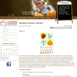 Windsor Farmers' Market | Farmers Markets of Nova Scotia
