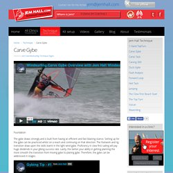 Carve gybe windsurfing technique article. Improve the carve gybe