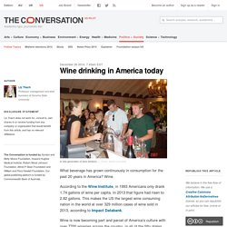 Wine drinking in America today