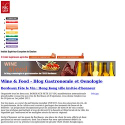 Wine & Food - Blog Gastronomie et Oenologie