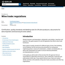 Wine trade: regulations