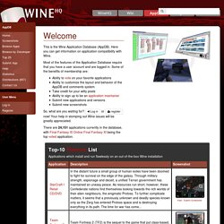 Wine Application DB - Wine Application Database
