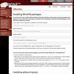 Installing the latest Wine on Ubuntu