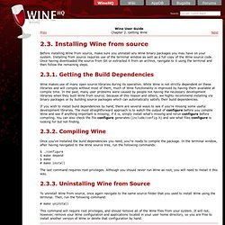 Wine HQ - Installing Wine from source