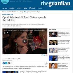 Oprah Winfrey's Golden Globes speech: the full text