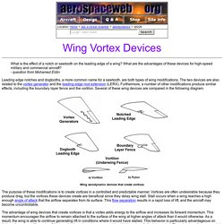 Wing Vortex Devices