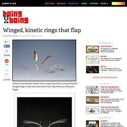 Kinetic Winged Rings that flap