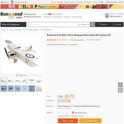 Eachine S.E.5a SE5a 378mm Wingspan Balsa Wood RC Airplane KIT Sale - Banggood.com