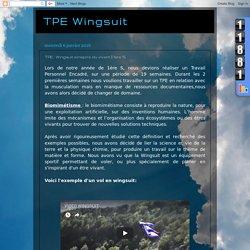 TPE Wingsuit: TPE : Wingsuit s'inspire du vivant