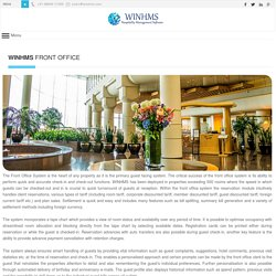 WINHMS - PMS Front Office Software