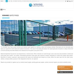 WINHMS - Gate Pass Management System