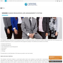 WINHMS - Human Resource Management System