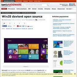 WinJS devient open source