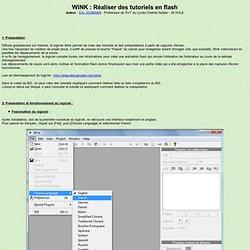 Wink : Réaliser des tutoriels en flash