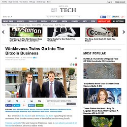 Winklevoss Twins Go Into The Bitcoin Business