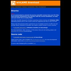 winLAME home page
