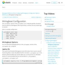 Winlogbeat Configuration