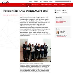Winnaars Bio Art & Design Award 2016